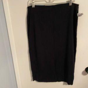 OLD NAVY Black Midi Stretchy Skirt  Size Large